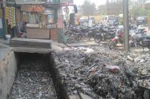 India, clogged drains