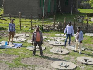 USAID Transform WASH Programme: Latrine slab construction in Shashego woreda, SNNPR, Ethiopia