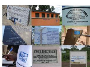 Collage of donor organisation plaques