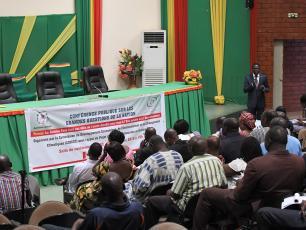 M. NANSI devant les députés burkinabè