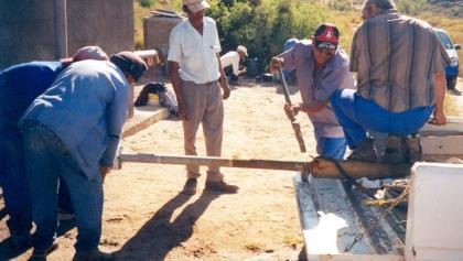 Dismantling borehole