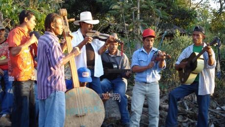 Music at the opening of a water supply system in Maraita, Honduras
